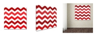 "Trademark Global Color Bakery 'Xmas Chevron 2' Canvas Art - 35"" x 35"""