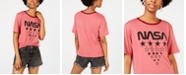 Freeze 24-7 Juniors' NASA Graphic Ringer T-Shirt