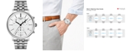 Tissot Men's Swiss Chronograph Carson Premium Stainless Steel Bracelet Watch 41mm