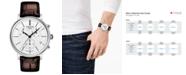 Tissot Men's Swiss Chronograph Carson Premium Brown Leather Strap Watch 41mm