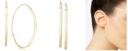 Italian Gold Threader Hoop Earrings in 14k Gold