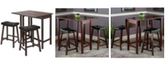 Winsome Wood 3-Piece Lynnwood Drop Leaf Kitchen Table with 2 Cushion Saddle Seat Stools