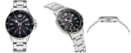 Nautica N83 Men's NAPABS910 Accra Beach Silver/Black Stainless Steel Bracelet Watch