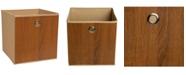 Simplify Faux Wood Storage Cube