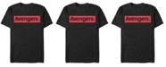 Marvel Men's Avengers Red Logo Short Sleeve T-Shirt