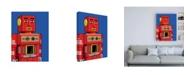 "Trademark Global Ron Magnes Vintage Red Robot Canvas Art - 15.5"" x 21"""