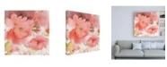 "Trademark Global Sheila Golden Coral Fusion 2 Canvas Art - 15.5"" x 21"""