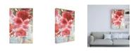 "Trademark Global Sheila Golden Symphony of Red Canvas Art - 19.5"" x 26"""