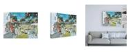"Trademark Global Trevor Mitchell Summer Fete Canvas Art - 15.5"" x 21"""