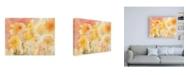 """Trademark Global Sheila Golden Coral Sky, Yellow Garden Canvas Art - 27"""" x 33.5"""""""