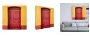 "Trademark Global Philippe Hugonnard Made in Spain 3 Red Door in Seville Canvas Art - 15.5"" x 21"""