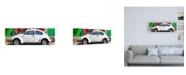 "Trademark Global Philippe Hugonnard Viva Mexico 2 White VW Beetle Car in Cancun Canvas Art - 36.5"" x 48"""