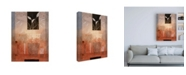 "Trademark Global Pablo Esteban Leaves in Vase on Orange Canvas Art - 27"" x 33.5"""