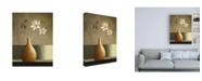 "Trademark Global Pablo Esteban Flowers Over a Tan Vase Canvas Art - 36.5"" x 48"""