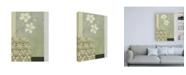 "Trademark Global Pablo Esteban White Flowers and Studded Bowl Canvas Art - 15.5"" x 21"""