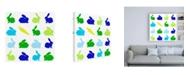 "Trademark Global Chariklia Zarris Animal Sudoku in Blue II Childrens Art Canvas Art - 15.5"" x 21"""