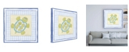 """Trademark Global Megan Meagher Turtle with Plaid IV Childrens Art Canvas Art - 15.5"""" x 21"""""""