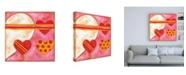 "Trademark Global Nancy Slocum Pop Hearts I Childrens Art Canvas Art - 15.5"" x 21"""