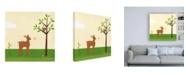 "Trademark Global June Erica Vess Woodland Friends Deer I Canvas Art - 15.5"" x 21"""