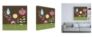 "Trademark Global June Erica Vess Patchwork Garden IV Canvas Art - 15.5"" x 21"""