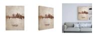 "Trademark Global Michael Tompsett Frankfurt Germany Rust Skyline Canvas Art - 19.5"" x 26"""