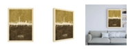 "Trademark Global Michael Tompsett Blackpool England Skyline Brown Canvas Art - 19.5"" x 26"""