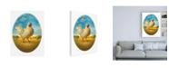 "Trademark Global Dan Craig Smaller Promo Chicken - Egg Canvas Art - 15.5"" x 21"""