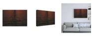 """Trademark Global Kurt Shaffer Photographs Sunset Reflections Ripple Canvas Art - 36.5"""" x 48"""""""