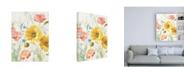 "Trademark Global Danhui Nai Floursack Florals I No Words Crop Canvas Art - 19.5"" x 26"""