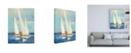 "Trademark Global Julia Purinton Summer Regatta III Red Yellow Canvas Art - 36.5"" x 48"""