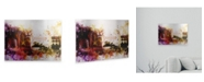 """Trademark Global Philippe Hugonnard NYC Watercolor Collection - Silvercup Studios Floating Brushed Aluminum Art - 21"""" x 25"""""""