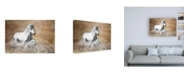 "Trademark Global Merrie Asimo Jump the Wave Canvas Art - 15.5"" x 21"""