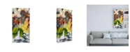 "Trademark Global Stephanie Aguila Chickadee with Orchid Canvas Art - 36.5"" x 48"""
