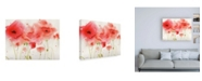 "Trademark Global Sheila Golde Red Poppies Over White Canvas Art - 19.5"" x 26"""