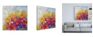 """Trademark Global Pamela Gaten Garden at Millefiori Canvas Art - 36.5"""" x 48"""""""