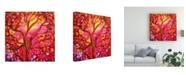 "Trademark Global Michelle Mccullough Sunset Tree Pink Orange Canvas Art - 15"" x 20"""