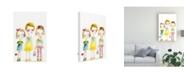 "Trademark Global Mindy Lacefield Three Friends Canvas Art - 15"" x 20"""