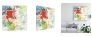 """Trademark Global Sheila Golden Red Burst 2 Canvas Art - 27"""" x 33"""""""
