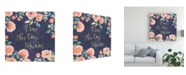 "Trademark Global Jenaya Jackson Blooming Delight IV Blue Canvas Art - 15"" x 20"""