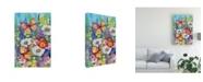"Trademark Global Kathleen Parr Mckenna Butterfly Garden Floating Canvas Art - 20"" x 25"""