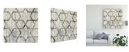 "Trademark Global Jennifer Goldberger Neutral Metric VIII Canvas Art - 20"" x 25"""
