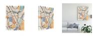 "Trademark Global Nikki Galapon Ovals and Lines II Canvas Art - 15"" x 20"""