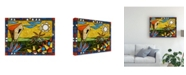 """Trademark Global Oscar Ortiz Sun Palm Hut Canvas Art - 15.5"""" x 21"""""""