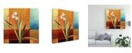 "Trademark Global Pablo Esteban Narrow Palm on Patches Canvas Art - 19.5"" x 26"""