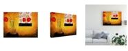 "Trademark Global Pablo Esteban Dying Roses on Orange 1 Canvas Art - 15.5"" x 21"""