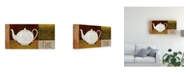 "Trademark Global Pablo Esteban White Teapot the Canvas Art - 27"" x 33.5"""