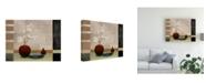 "Trademark Global Pablo Esteban Tall Branch Flowers in Red 2 Canvas Art - 15.5"" x 21"""