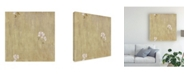 "Trademark Global Pablo Esteban Flower Pattern Beige Canvas Art - 15.5"" x 21"""