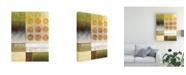 "Trademark Global Pablo Esteban Nine Orange Circles Canvas Art - 36.5"" x 48"""