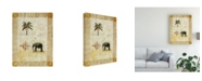"Trademark Global Pablo Esteban Elephant Under Beige Paper 2 Canvas Art - 19.5"" x 26"""